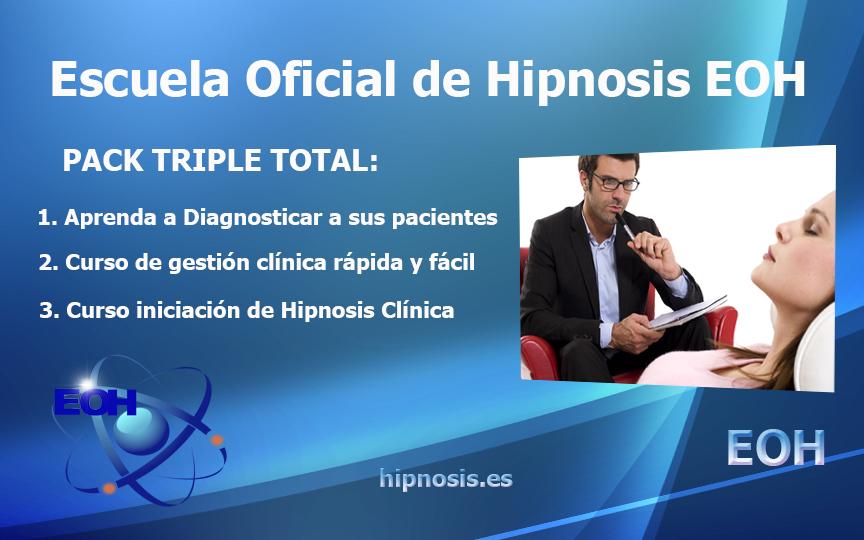 curso hipnosis clinica de la escuela de Hipnosis pack triple total
